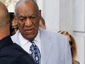 Comedian Bill Cosby arrives at the Montgomery County Courthouse