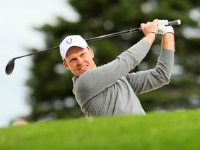 Danny Willett takes part in practice for this year's Ryder Cup in Minnesota
