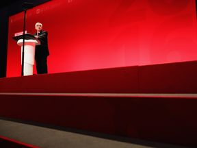John McDonnell delivers his keynote speech