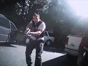 Footage from a bodycam of the moments leading up to the death of Keith Lamont Scott in Charlotte, North Carolina