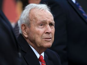 Arnold Palmer at the final round of the Arnold Palmer Invitational in Orlando, Florida, during March