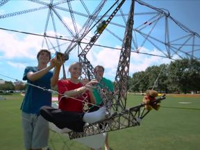 The University of Maryland engineering team achieves lift-off with their Gamera craft