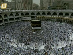Hajj pilgrims gather at Mecca
