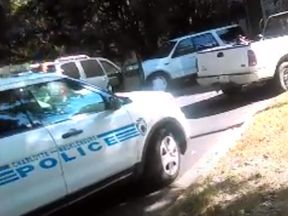 Keith L. Scott's wife filmed as he was shot by police. Pic: New York Times