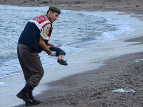 Aylan Kurdi's body washed up on a Turkish beach in 2015