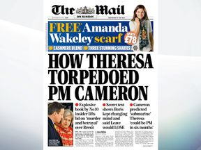 David Cameron's frustration at Theresa May's lack of support over the EU refrendum is revealed in a new book, says The Mail on Sunday
