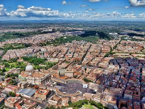 General aerial view of Rome