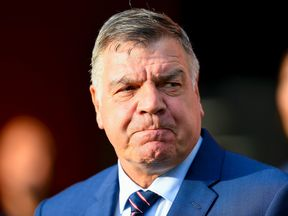 Sam Allardyce looks on during the World Cup 2018 qualifier between Slovakia and England