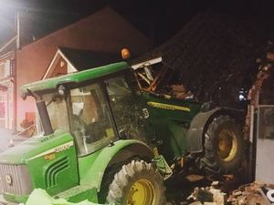 Tractor raid on cash machine leaves Donington Co-op in ruins