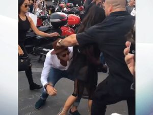 Serial prankster Vitalii Sediuk ambushes Kim Kardashian in Paris