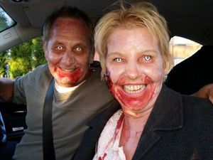 Police called to M62 'assault' find extras dressed as zombies