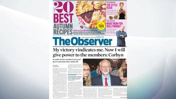 The Observer leads with Jeremy Corbyn's victory, beating Owen Smith to continue as Labour Party leader