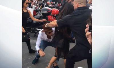 Serial prankster Vitalii Sediuk ambushes Kim Kardashian in Paris