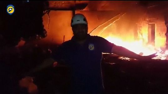 At least 18 aid trucks were destroyed in the attack