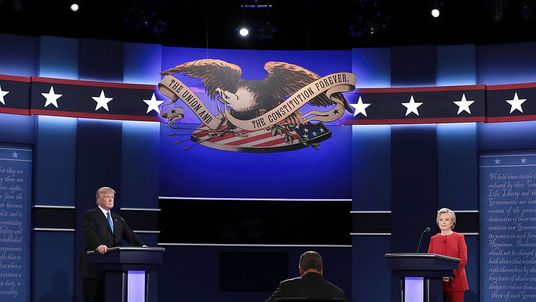 Donald Trump Hillary Clinton clash in the Presidential Debate at Hofstra University