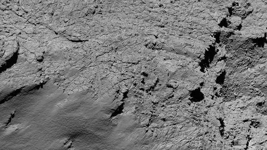 An image captured by Rosetta's camera of Comet 67P/Churyumov-Gerasimenko
