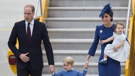 William, Kate, George and Charlotte are travelling as a family of four