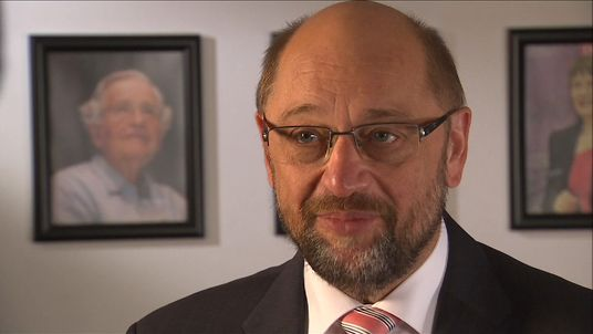 The President of the EU Parliament Martin Schulz