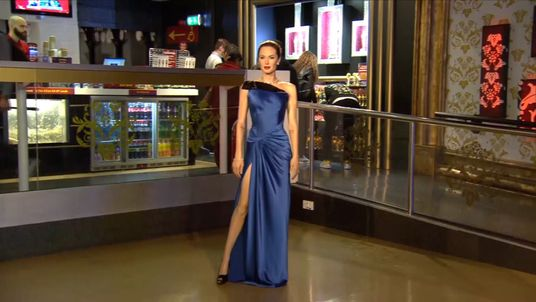 Angelina Jolie's waxwork at Madame Tussauds in London