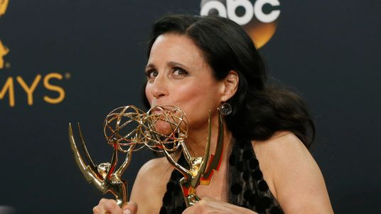 Julia Louis-Dreyfus took the Emmy awards for outstanding comedy series and outstanding lead actress in a comedy series for her role in US political satire show Veep