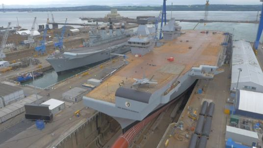 The HMS Queen Elizabeth