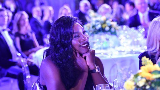 Serena Williams attends the Milano Gala Dinner benefitting the Novak Djokovic Foundation presented by Giorgio Armani in Milan