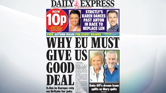 """Britain is in a """"position of power""""to negotiate Brexit, it emerged yesterday, with areport statingthat millions more jobs in the EU depend on trade with the UK than the other way round."""