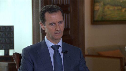 The Syrian president Bashar al-Assad