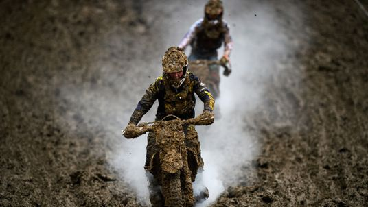 Mark Scheu of Germany in action during the ADAC MX Youngster Cup in Holzgerlingen, Germany