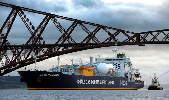 First US shale gas shipment arrives at Grangemouth in Scotland