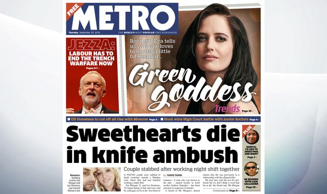 Thursday's national newspaper front pages