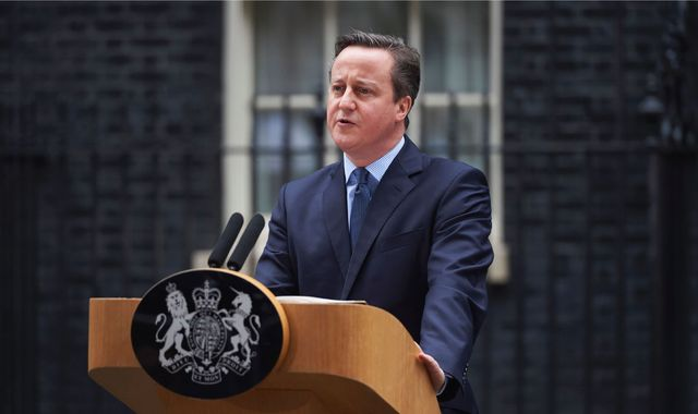 Former British PM David Cameron unveils new job