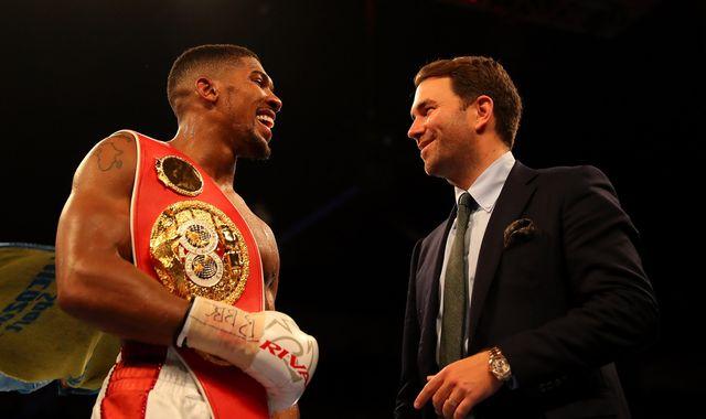 AJ happy to take on Klitschko, says Hearn