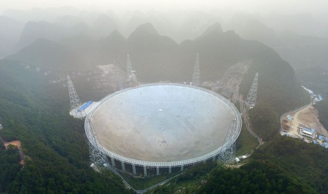 Giant radio telescope begins search for alien life in outer space