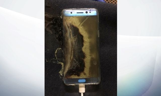 A Samsung Galaxy Note 7 exploded in a 6-year-old's hands