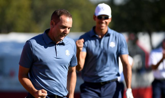 A glance at Friday play in the Ryder Cup