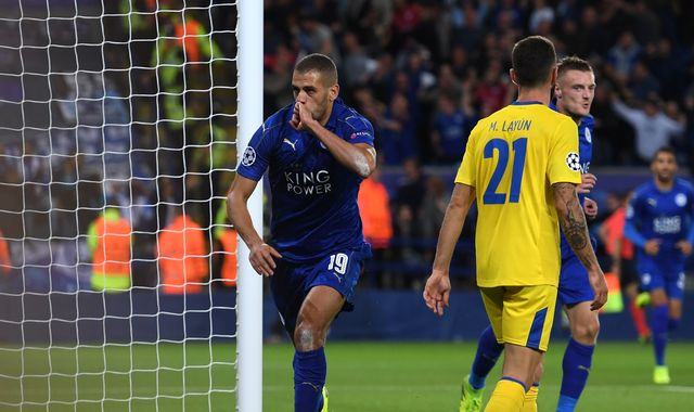 Slimani nails Champions League win for Foxes