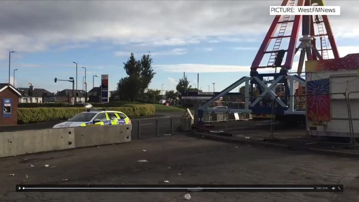 Three people were hurt when they were thrown from the ride