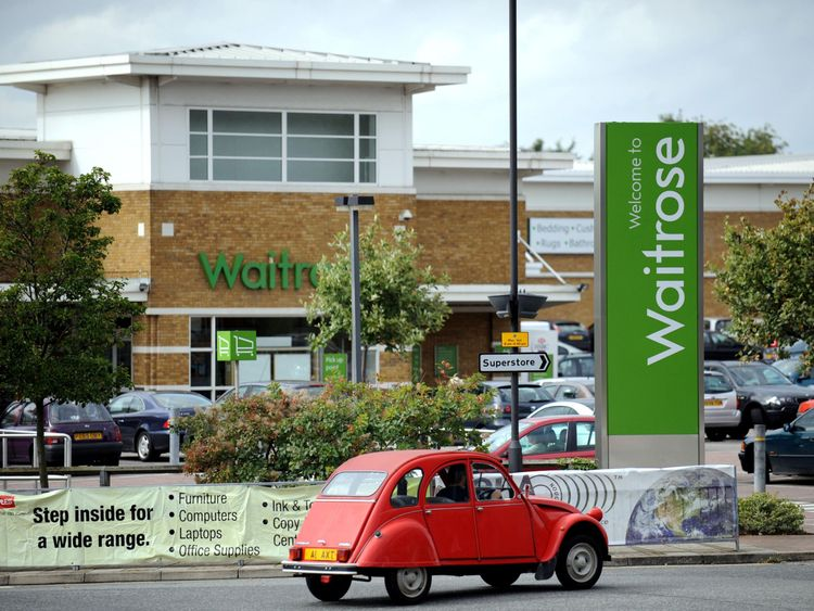 A Waitrose store in Harrow