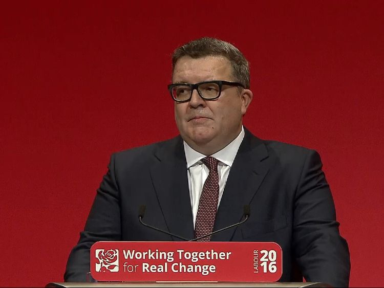Tom Watson delivers speech to 2016 Party Conference