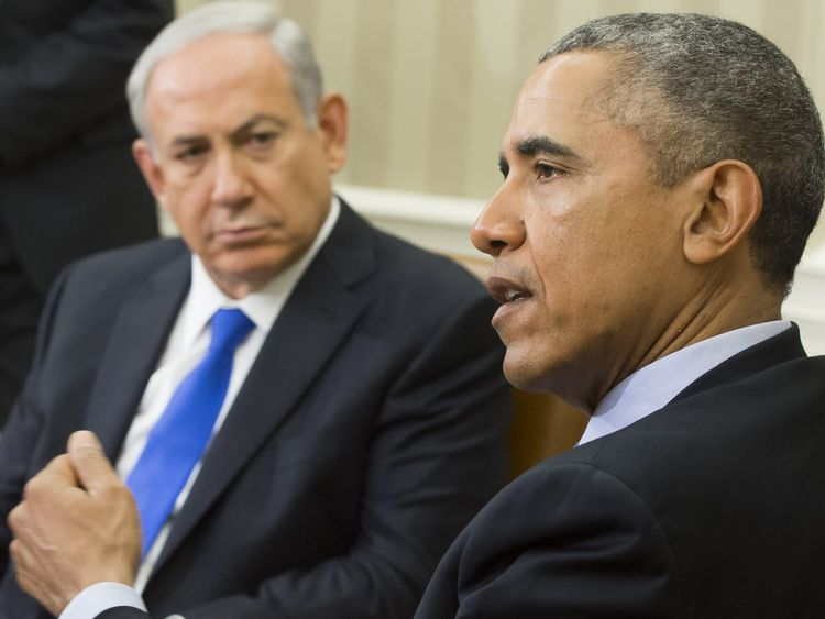 Mr Netanyahu and Mr Obama during talks in Washington DC in 2015