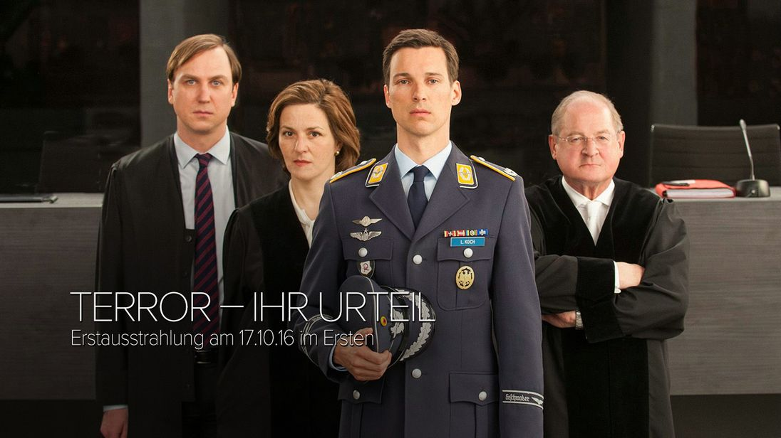 """Terror - Your Verdict"" judges the fate of fictional German air force pilot Lars Koch"