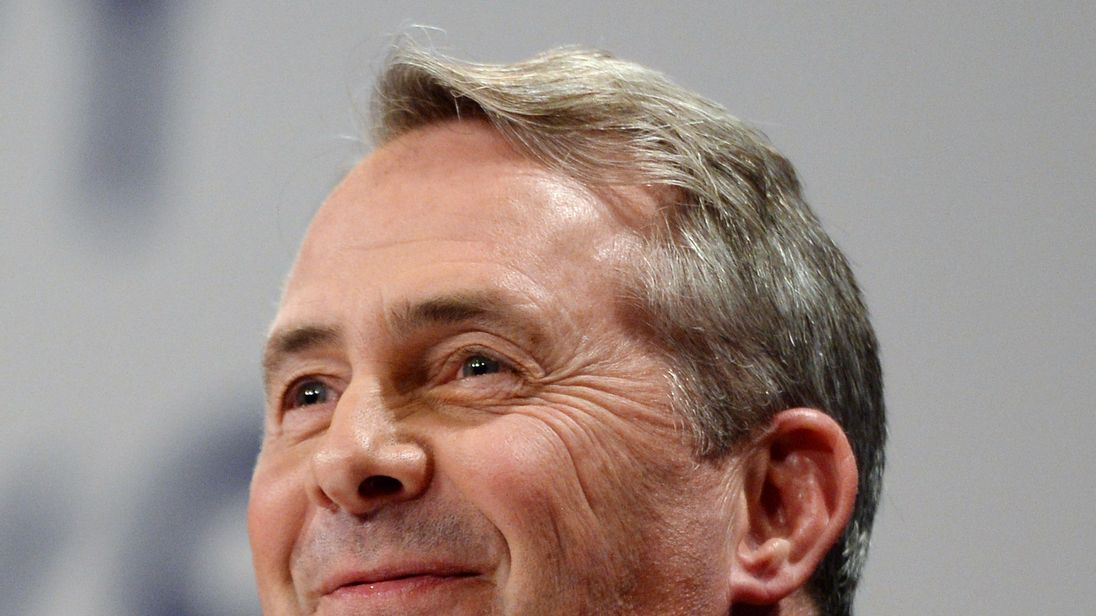 Liam Fox at the Tory party conference