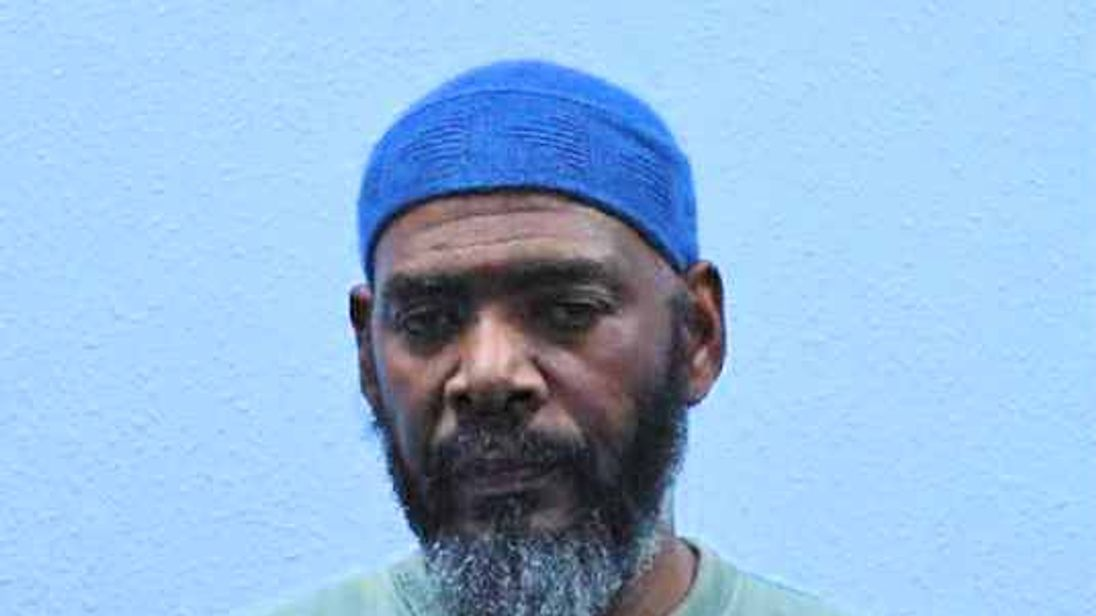 Charge picture of Khalid Rashad, 63, mosque director and brother of Boney M singer Liz Mitchell, found guilty of ordering the murder of imam Abdul Hadi Arwani.