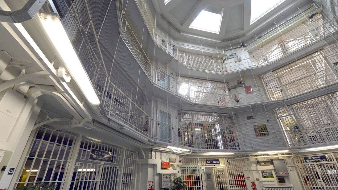 The inside of Pentonville Prison in north London