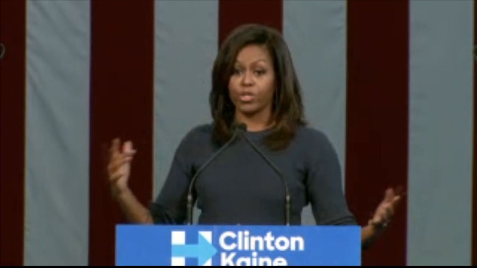 Michelle Obama slams Donald Trump during Hillary Clinton rally on October 13