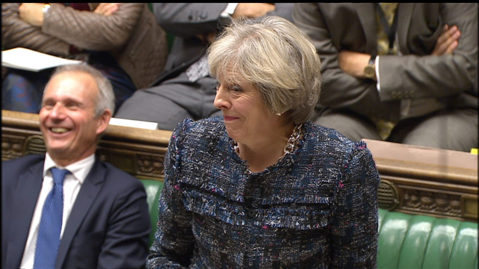 Theresa May gets an unintentional laugh in the House