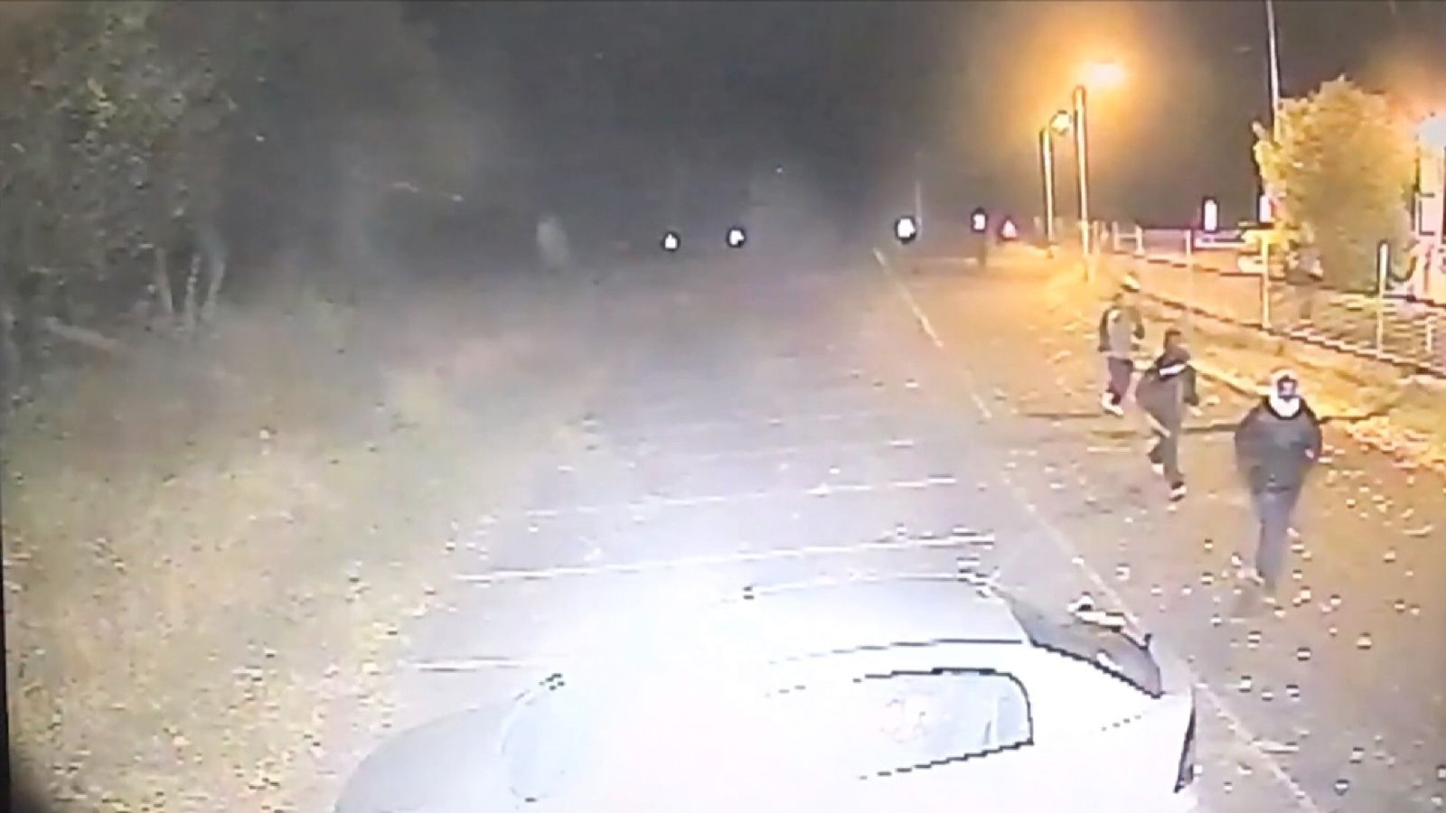 Migrants near Calais caught on CCTV after attacking Mark Stone