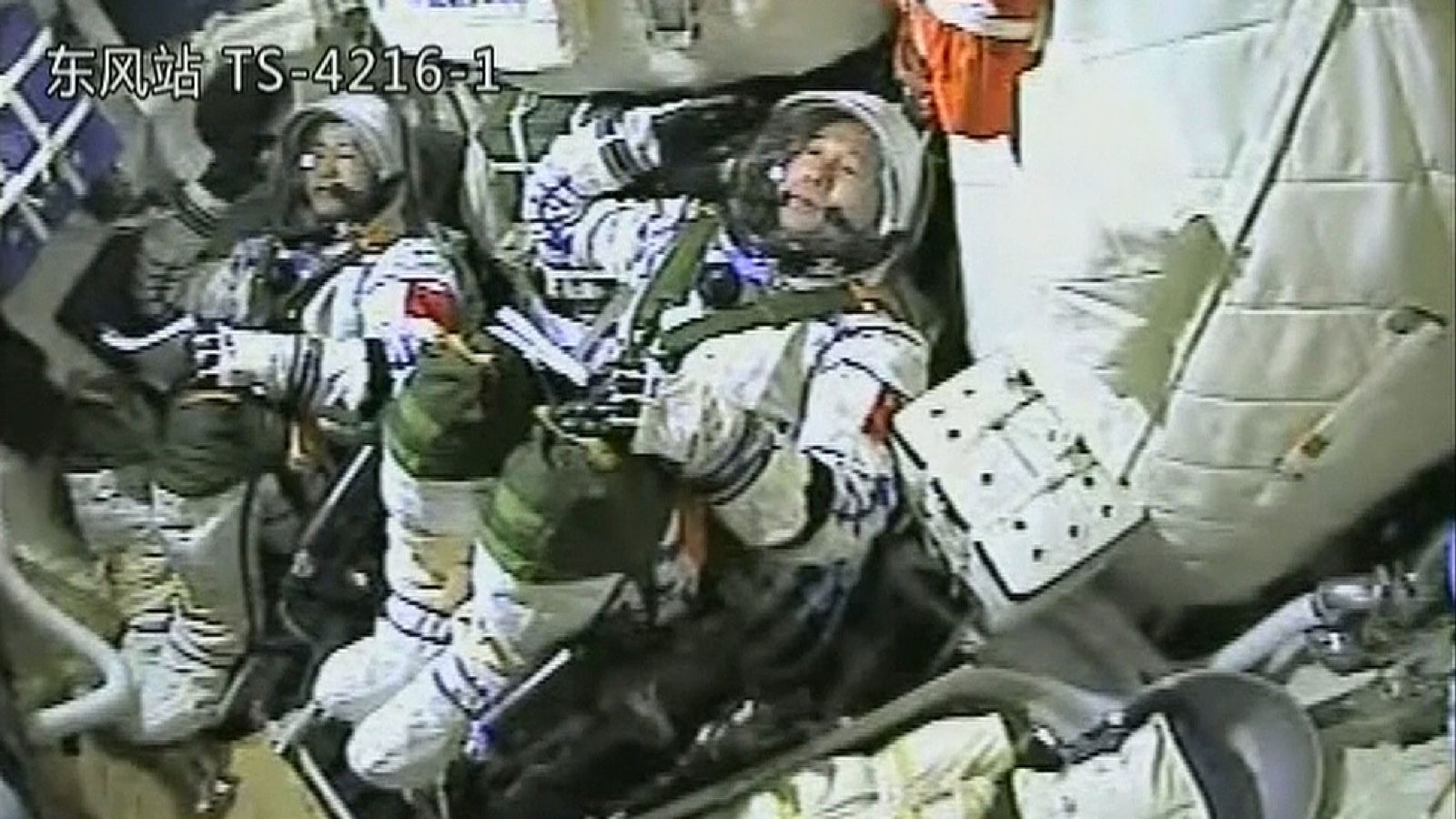 The Chinese astronauts for the Shenzhou-11 manned space mission prepare for launch