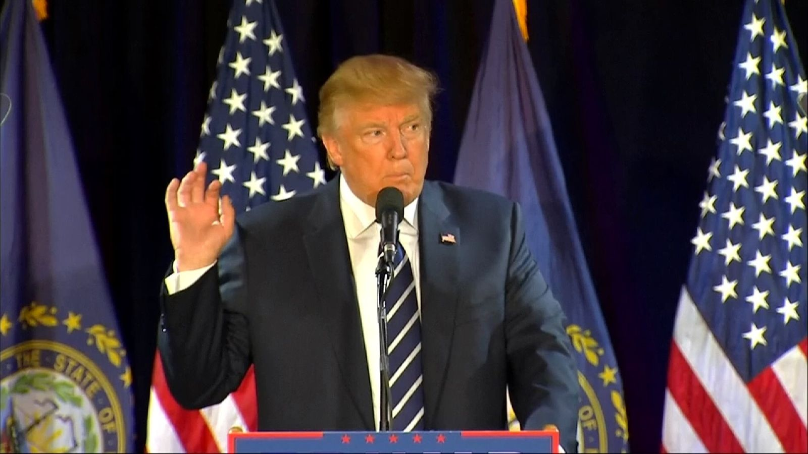 Donald Trump announces the FBI are looking into Clinton's emails again